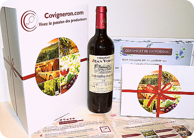 coffret cadeau vin original