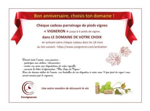 Chèque Cadeau Covigneron