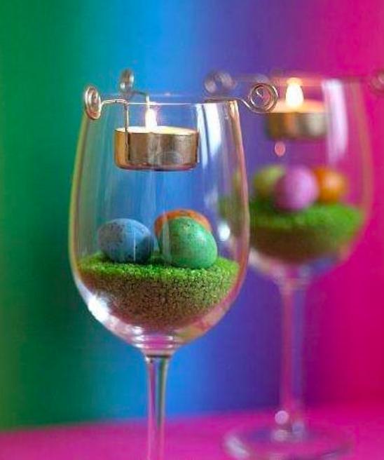 verre à vin déco printemps
